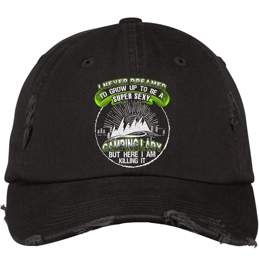 I Love Camping District Distressed Dad Cap Here I Am Killing It Hat