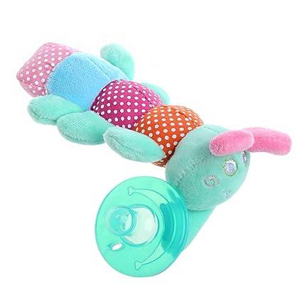 Chupetes de silicona XTYaa con pezón de bebé con peluche, 1 unidad