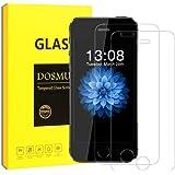 iPhone5S 5 5C SE 保護フィルム-DOSMUNG(2枚セット)iPhone5S 5 5C SE ガラス フィルム-強化保護ガラス 高精細 クリスタル透明度 9H硬度 ガラス飛散防止 指紋防止 気泡ゼロ