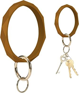 Hadley Mae Designs Key Ring Bracelet Keychain Wristlet Keychain Bangle Key Ring