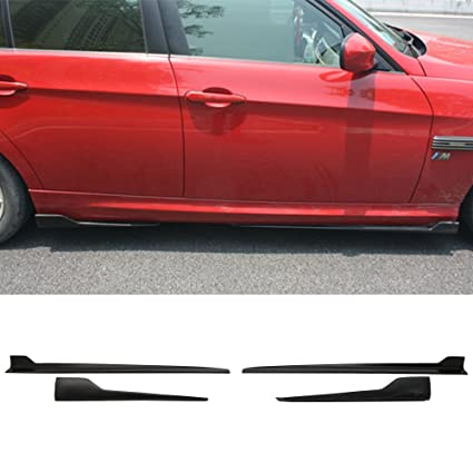 Side Skirts Fits 2010-2015 Chevy Camaro Ikon Style Black PP Sideskirt Rocker Moulding Air Dam Chin Diffuser Bumper Lip Splitter by IKON MOTORSPORTS 2011 2012 2013 2014