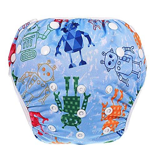 Child Diaper - Hautoco Swim Diaper Nappy Pants Reusable Adjustable Infant Baby Boy Girl Toddler,Blue
