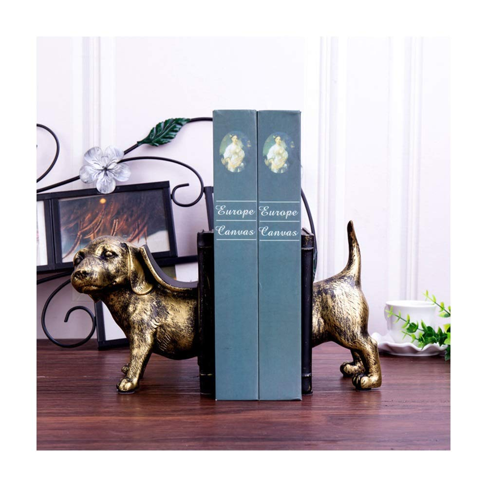 Yaohai Cute Dog Simple Book Stand School Students Stand Resin Bookends Support Desk Stands for School Stationery and Office Sup by Yaohai