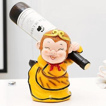 bestwineholder Botellas botellero,Leyenda China Historia del Vino sostenedor Creativo Fuerte y decoración Permanente del Vino-B L8*W7*H8.7inch(20 * 17 ...