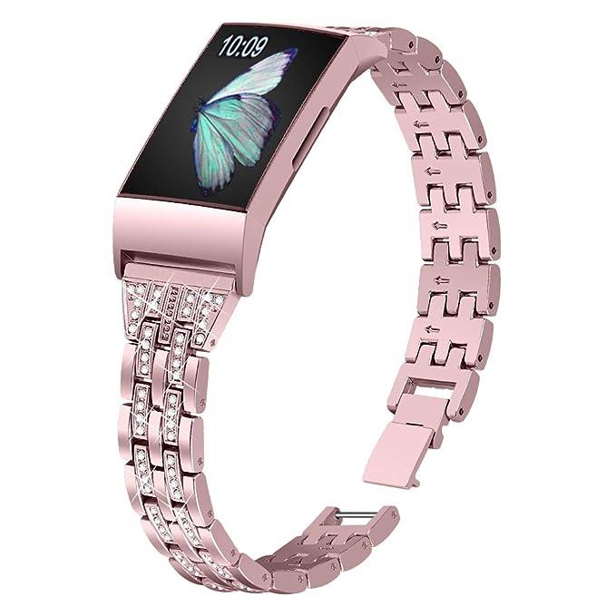 Joyozy Slim Bling Bandas Compatible con Fitbit Charge 3 ...