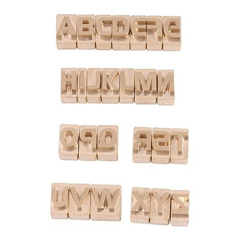 26 Unidades/juego de letras mayúsculas Alfabeto Set Arte de cuero DIY para estampado de