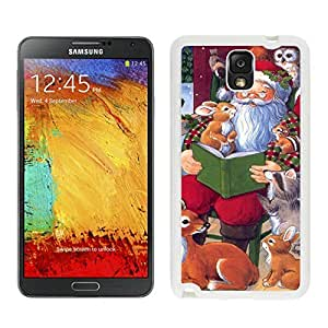 Custom Design Santa Claus With Animal White Samsung Galaxy Note 3 Case 1