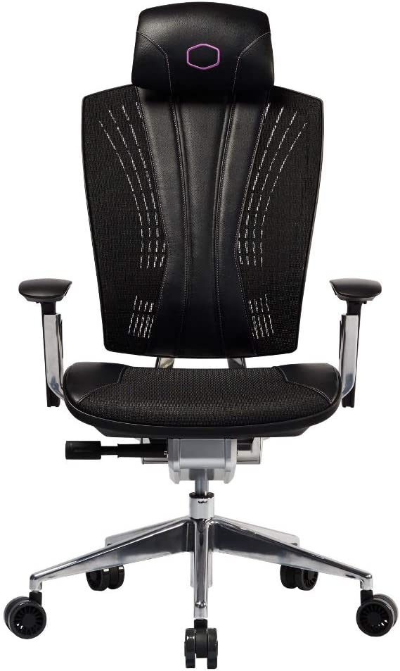 Cooler Master Ergo L Ergonomic High Back Office Lumbar Support Mesh Computer Desk Task Chair with Adjustable Backrest, Headrest, Armrest - Black