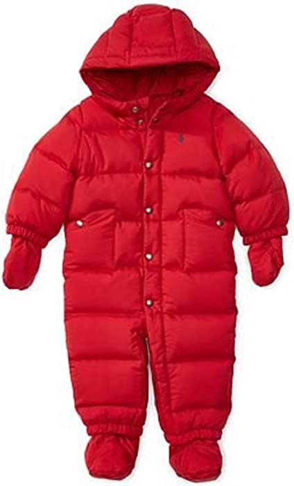 62fdd65d1 Ralph Lauren Baby Boys Quilted Down Snowsuit with Hood (Color  Jewel ...