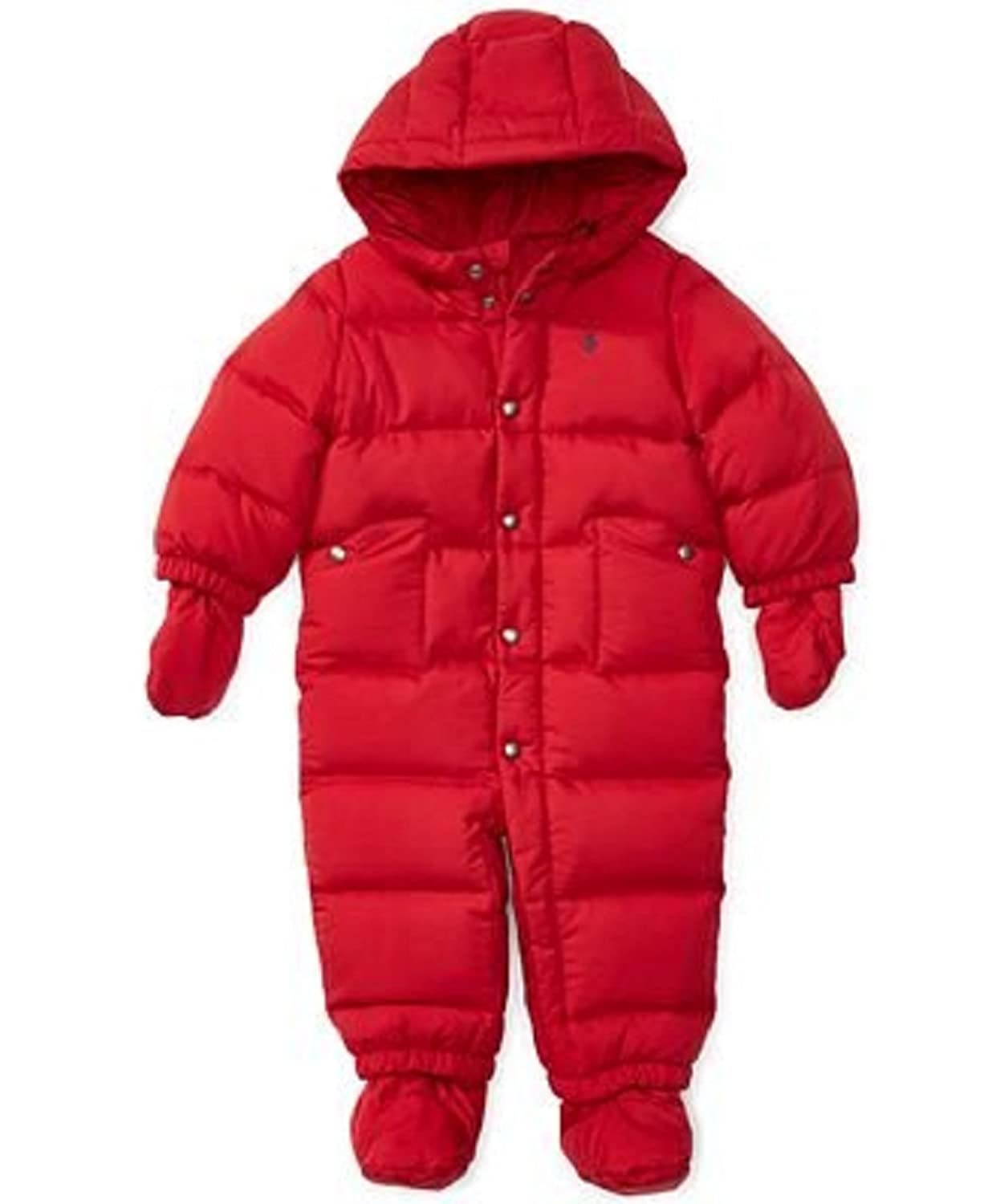 ed45a966fbb3 Ralph Lauren Baby Boys Quilted Down Snowsuit with Hood (Color  Jewel ...