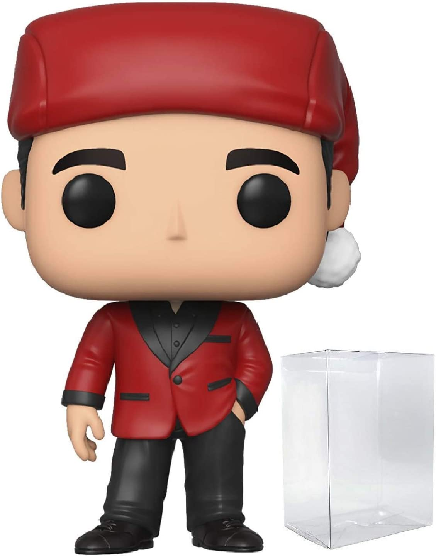 Funko Pop TV: The Office - Michael Scott as Classy Santa Pop! Vinyl Figure (Includes Compatible Pop Box Protector Case)