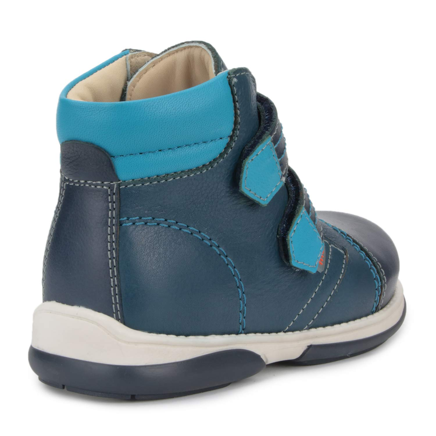 Memo Alex Boys' Corrective Orthopedic High-Top Leather Boot Diagnostic Sole, Navy Blue, 22 (6.5 M US Toddler) by Memo (Image #2)