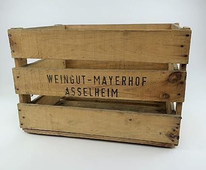 Juego de 3, difíciles pfälzer Vino Caja de Madera auténtica con Texto Impreso, Muy
