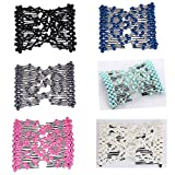 Casualfashion 6Pcs Multifunction Easy Comb Magic Comb Stretchy Beaded Hair Comb Elastic Double Combs in Mix Colors Hair Holder