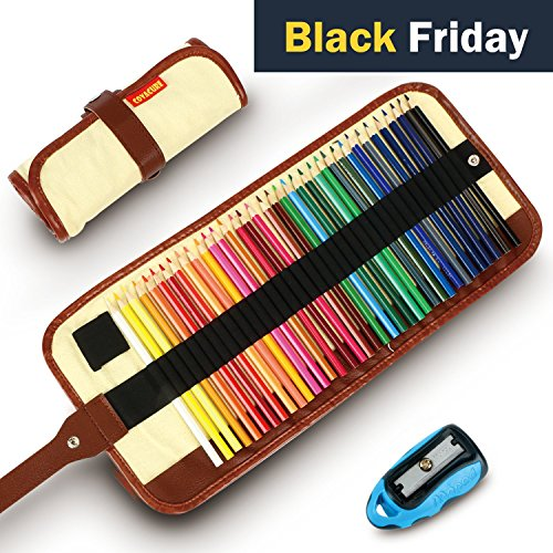 Colored Pencils  Covacure Premier Color Pencil Set With 36 Colouring Pencils Sharpener And Canvas Pencil Bag For Kids And Adult Coloring Book Ideal For Christmas Gifts