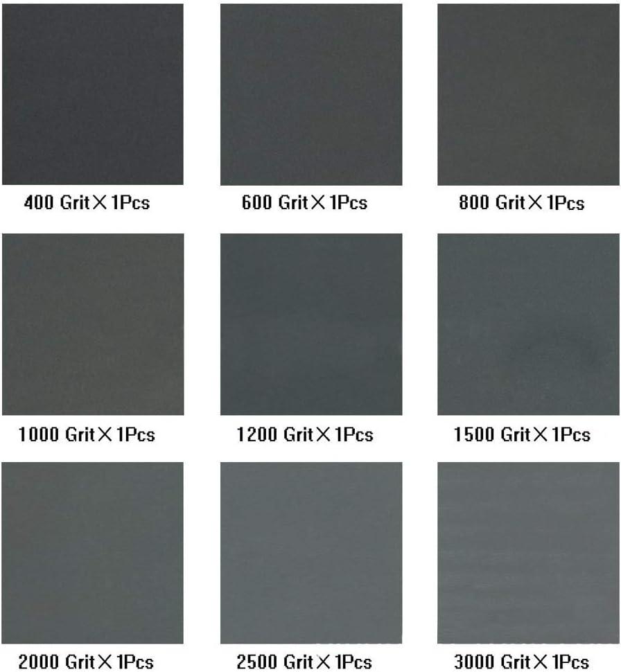 papel de lija 9 hojas Brocha para pintar pulido juego de brocha de lana para pintura al /óleo pintura mural 5 piezas