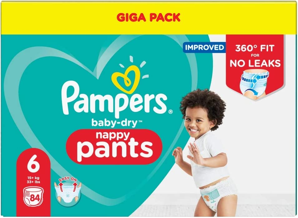 Air Channels for Breathable Pampers Baby-Dry Size 6 124 Nappies 13-18 kg