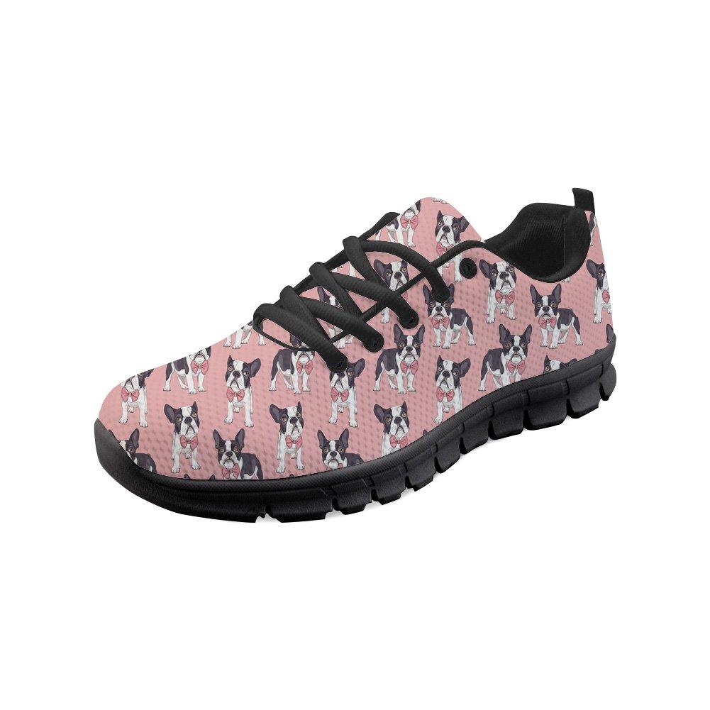 Showudesigns Cute Boston Women Sport Trainer Road Running Shoes Lightweight Sneaker Pink