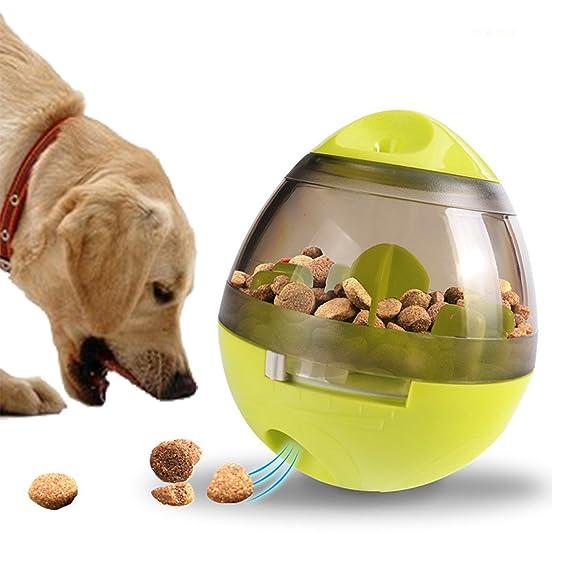 RCRuning-EU Juguetes interactivos para perros,Juguete dispensador de comida el mejor juguete dispensador de chuches para perros pequeños, ...
