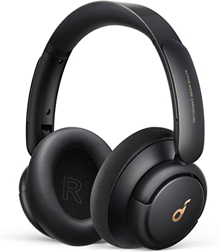 سماعات ساوند كور من انكر لايف سماعات بتقنية كيو 30 هايبرد اكتيف لالغاء الضوضاء مع اوضاع متعددة، صوت عالي الدقة، وقت تشغيل 40 ساعة، شحن سريع، وسائد اذن ناعمة، سماعات بلوتوث، اسود، A3028