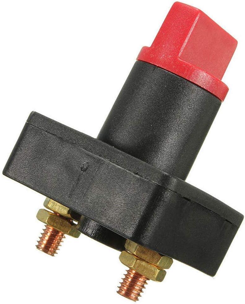 Nrpfell 100A Batterie Master Trennen Rotary Trenn Schalter Power Kill auf AUS Schalter Auto Van Boot 2 St/üCke