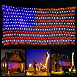 yinqing Led Flag Net Lights of The United States, Waterproof American Flag Light for Independence Day,Memorial Day, Festival, Garden,Indoor and Outdoor For Sale