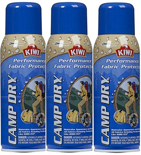 - Kiwi Camp Dry Water Repellent Performance Fabric Protector, 10.5 oz 3 Pack