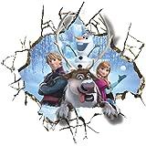 Fenetre Salle De New Frozen 3D Enfants De Maternelle Etanche Amovible Stickers Muraux