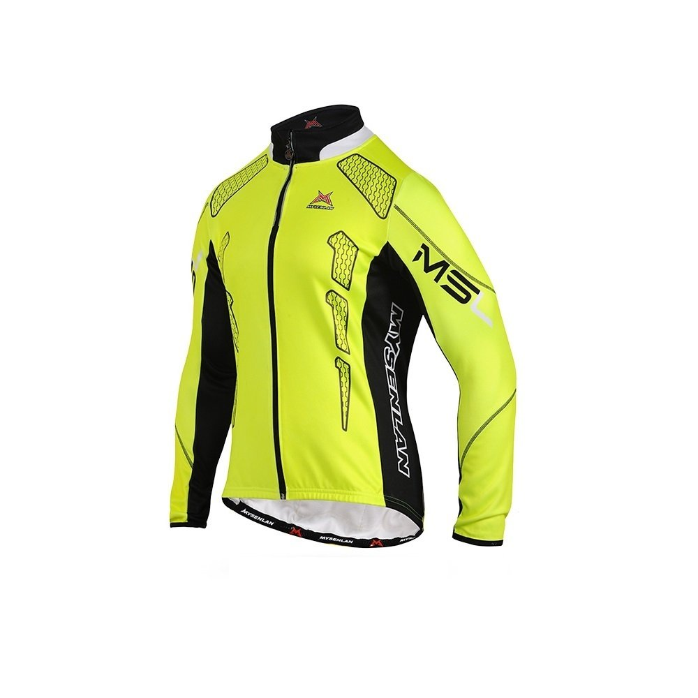 HYSENM Sterngthメンズ30 – 50度3dカット防風通気性サイクリングフリースThermalスポーツウェアロングジャージー冬ジャケット B01A13A0YQ  グリーン Medium