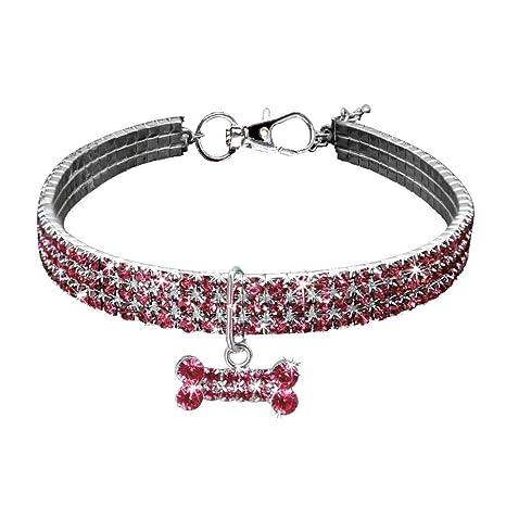 BbearT® Collar de Mascota, Bling Bling Bling Collar Elástico Cristal Diamante Gato Collar Collar
