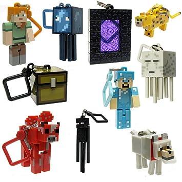 Minecraft - Juego de 10 colgadores para llaveros de ...