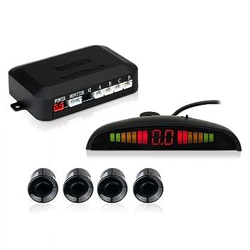 Esky 4 Sensor de Aparcamiento Sistema de Radar Para Coche Para la Inversión del Sentido de Marcha: Amazon.es: Electrónica