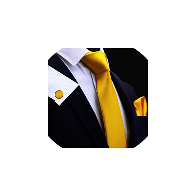 Los hombres de seda sólido de grupo de unión 8 cm corbata pañuelo ...