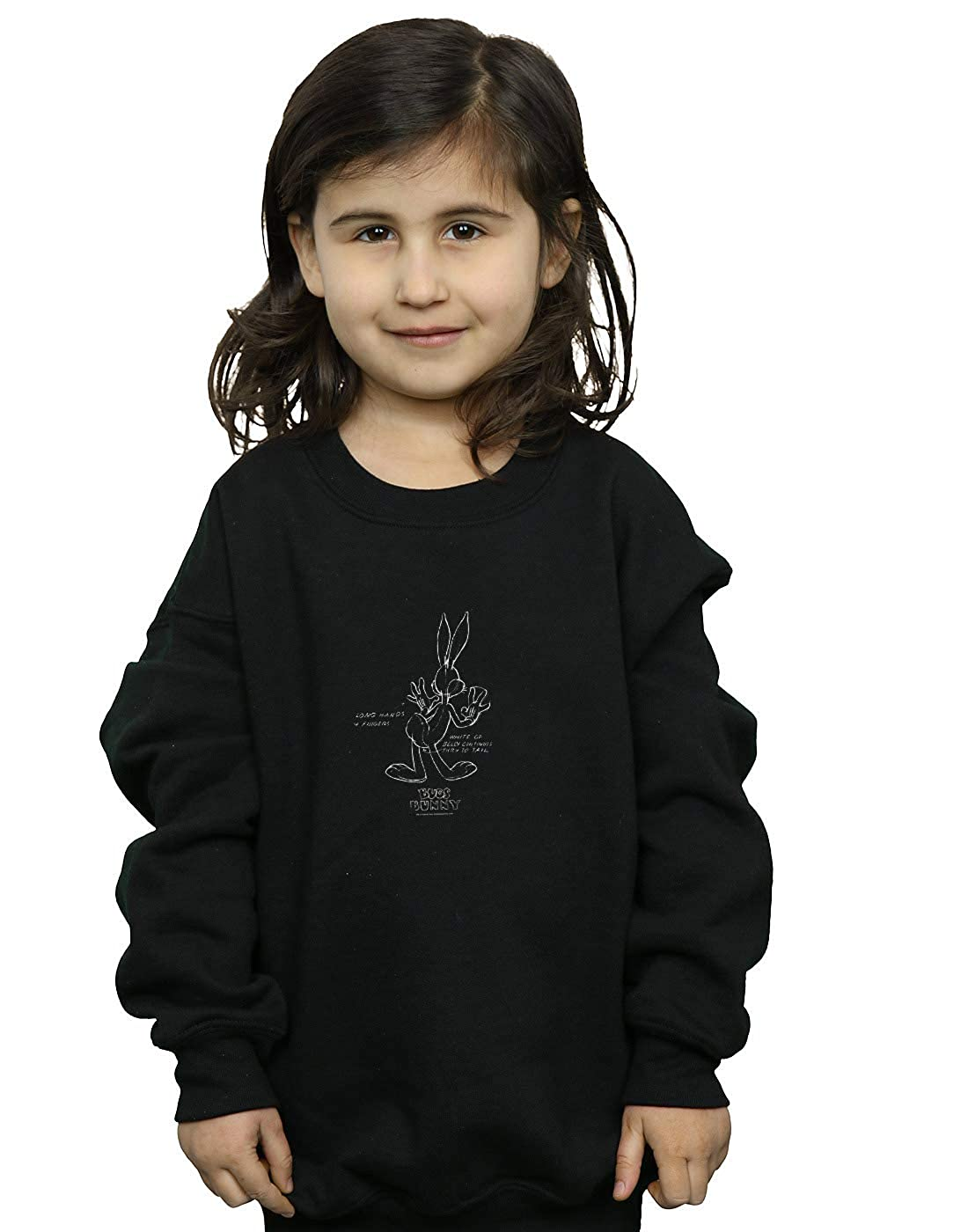 Absolute Cult Looney Tunes Girls Bugs Bunny White Belly Sweatshirt