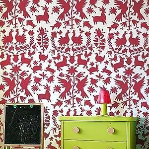 Otomi stencil pattern reusable stencils for diy wall for Decozilla wall art