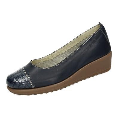 48 HORAS 1431536 MOCASINES CUERO 48 H MUJER MARINO 36: Amazon.es: Zapatos y complementos