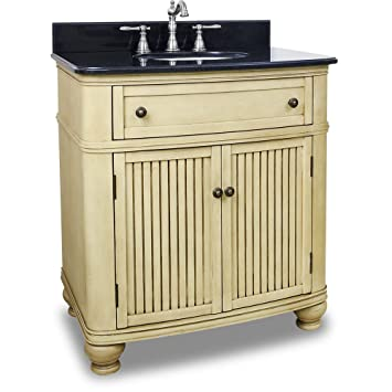 Elements VAN028 T Compton Collection 32 Inch Single Sink Bathroom Vanity,  Buttercream
