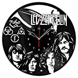 Led Zeppelin Vinyl Clock Record Wall Clock Fan Art Handmade Decor Unique Decorative Vinyl Clock12″ (30 cm) #1