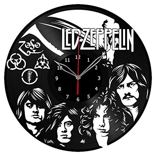 Led Zeppelin Vinyl Clock Record Wall Clock Fan Art Handmade Decor Unique Decorative Vinyl Clock12″ (30 cm) #1