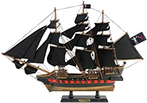 Handcrafted Nautical Decor Wooden Blackbeard's Queen Anne's Revenge Black Sails Limited Model Pirate Ship