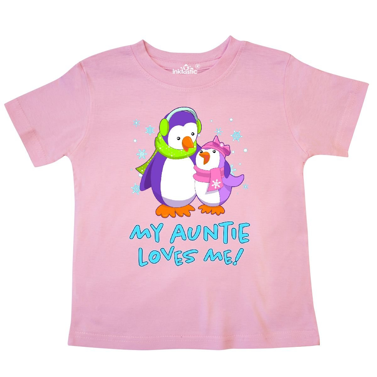 inktastic My Auntie Loves Me Cute Penguins Toddler T-Shirt