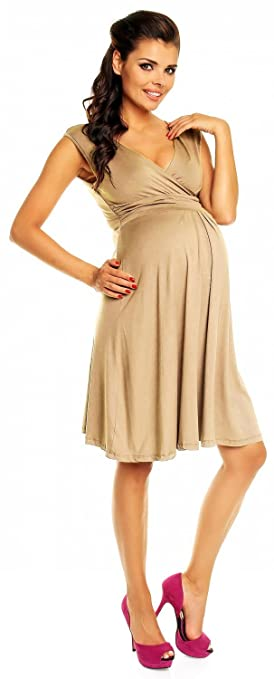 98b0ab2060c51 Happy Mama Womens Maternity Skater Summer Flattering Dress 256p model_256  Women