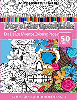 coloring books for grown ups day of the dead girls dia de los muertos - Dia De Los Muertos Coloring Pages
