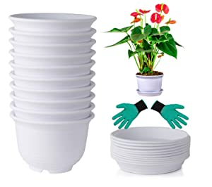 DeElf Plastic Flower Pots