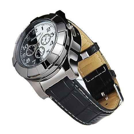 Reloj de pulsera con encendedor (2 en 1, correa de piel reloj, mecanismo