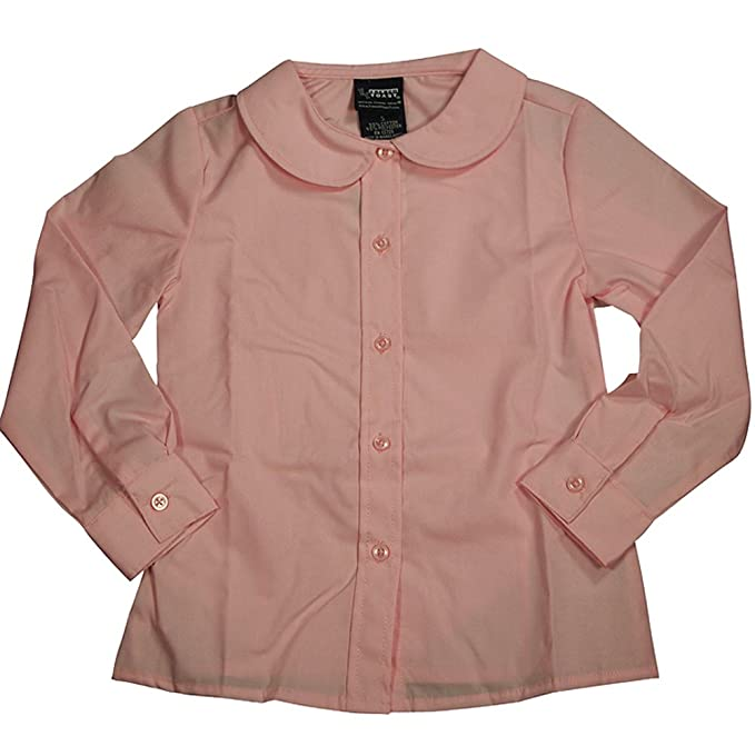 9ec3f0d813dfec Image Unavailable. Image not available for. Color: French Toast Long Sleeve  Peter Pan Blouse (Feminine Fit) Girls Pink 16