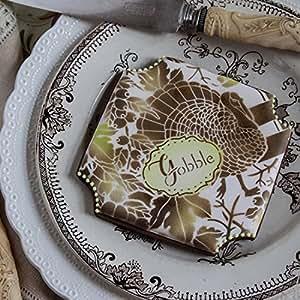Woodland Turquía de Web placas Cookie Stencil Set por Julia Usher