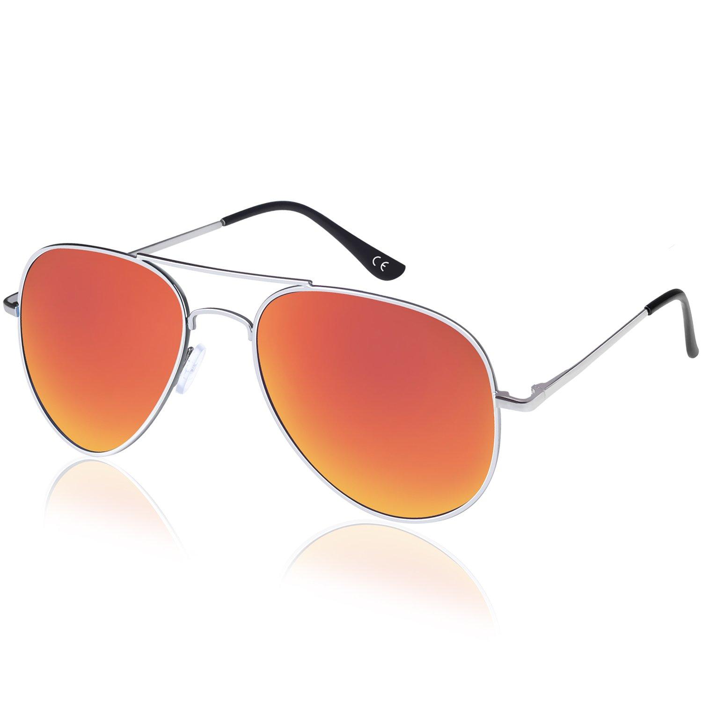 Elimoons Aviator Sunglasses for Men Women Polarized Mirrored UV 400 Lens Protection ACGLASFX-02