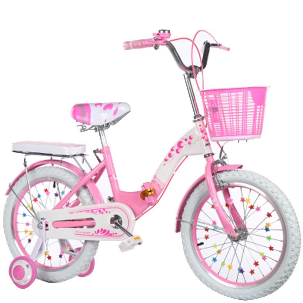 独特の上品 Axdwfd Pink 子ども用自転車 子供用自転車高炭素鋼子供用自転車(トレーニングホイール付き)16/18/20インチの男の子と女の子のサイクリング、子供用411歳 子ども用自転車 18in Pink B07PQY54B4 B07PQY54B4, 安達運動具店:9761864f --- senas.4x4.lt