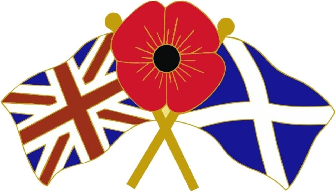 Poppy /& Union flagge Pin Badge